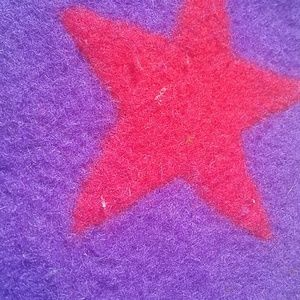 Bags - Wooly Purple/Red Star Purse